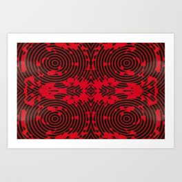 Oscillating Crimson Art Print