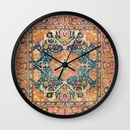 Amritsar Punjab North Indian Rug Print Wall Clock