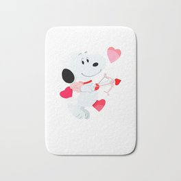 Snoopy cupid Bath Mat