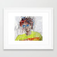 model Framed Art Prints featuring Model by art dun (anup)