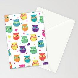 Rainbow Owl Cuties Stationery Cards
