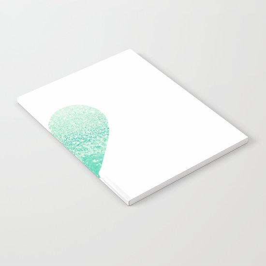 SEAFOAM HEART Notebook