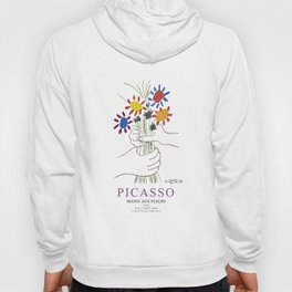 Picasso Exhibition - Mains Aus Fleurs (Hands with Flowers) 1958 Artwork Hoody
