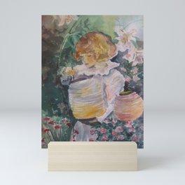 Garden Girl Mini Art Print