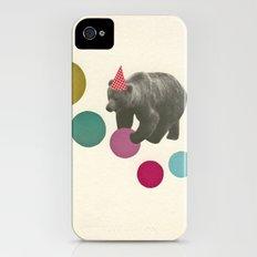 Birthday Bear Slim Case iPhone (4, 4s)