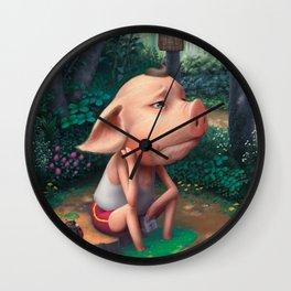 Sufferer Pig Wall Clock