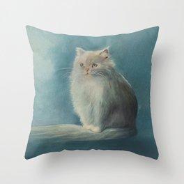 Fluffy Persian Cat Throw Pillow