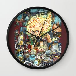 Electronically Lit Wall Clock