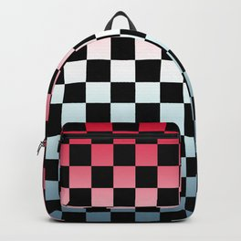 Red White Blue Gradient Checker Backpack