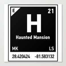 elements of H (Haunted Mansion) Canvas Print