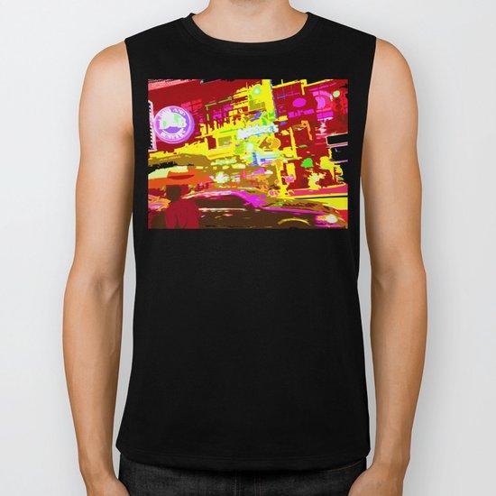 NY#9 Times Square2 Biker Tank