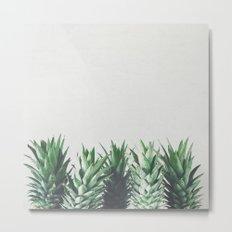 Pineapple Leaves Metal Print