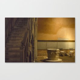 CA Goldoni house stairs Venice italy Canvas Print