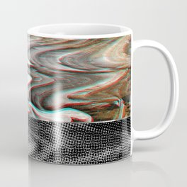 White Noise / Landscape / Gold Glitch #3 Coffee Mug