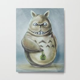 Miyazaki's Totoro - Totoros communis domestica Metal Print
