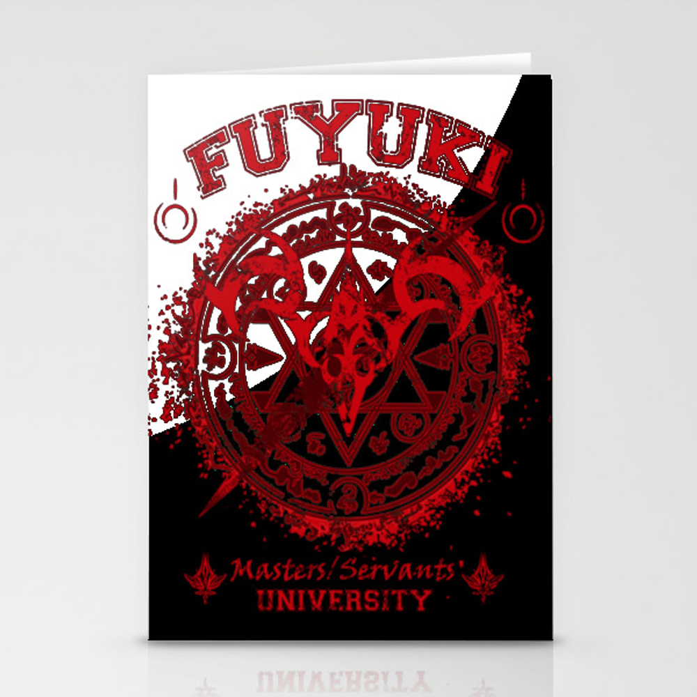 Fuyuki Fate Stay Night University Stationery Cards by Ngominhanhhfed CRD7905573