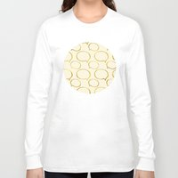 gold foil Long Sleeve T-shirts featuring Cream Gold Foil 01 by Aloke Design