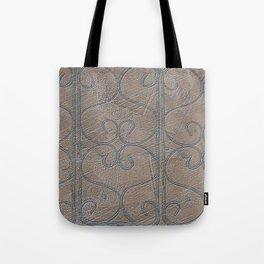 Blue Grey S Curve Curls Terracotta Wall Tote Bag