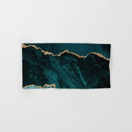 Teal Blue Emerald Marble Landscapes Hand & Bath Towel