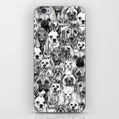 christmas dogs iPhone & iPod Skin