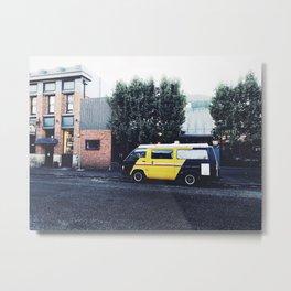yellow magic van Metal Print