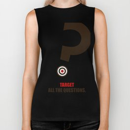 Lab No. 4 - Target All The Questions Corporate Start-Up Quotes Poster Biker Tank