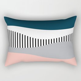 Colorful waves design Rectangular Pillow