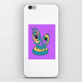 Purple Crazy Eyes iPhone Skin