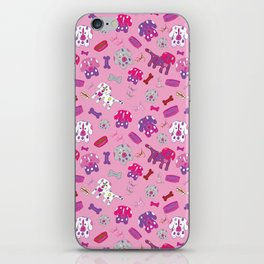 Pink, Purple, & Puppies iPhone Skin