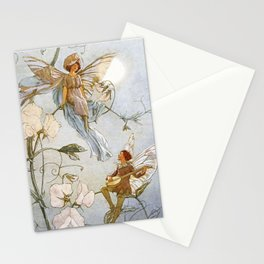 """""""Fairies Mid Sweet Peas"""" by Margaret Tarrant Stationery Cards"""