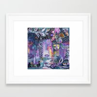 flora bowley Framed Art Prints featuring Winter Wish Original Painting by Flora Bowley by Flora Bowley