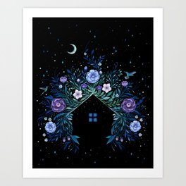 Tiny House - Nighty Art Print