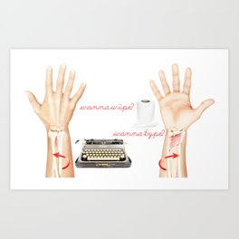 Wipe or Type? Art Print