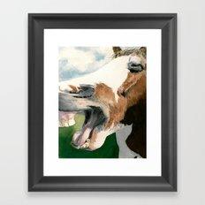 Horse Laugh Framed Art Print