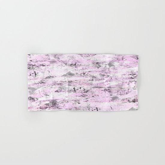 Pink and Grey Abstract Hand & Bath Towel