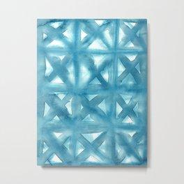 Watercolor Tiles Metal Print