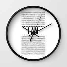 I AM ( Identity series)  Wall Clock