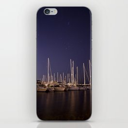 Sailboats Docked Under The Stars iPhone Skin