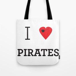 I heart Pirates Tote Bag