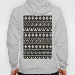 Vintage white black geometrical aztec tribal Hoody