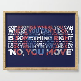 Civil War Quote Serving Tray