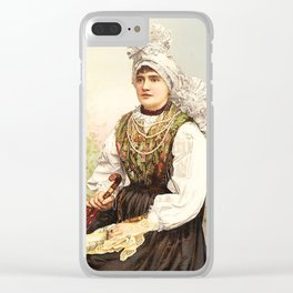 Romanian Gypsy girl Clear iPhone Case