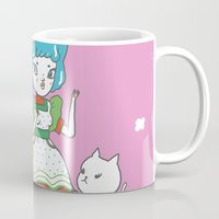 anime Mugs featuring Retro Anime by Mel Stringer