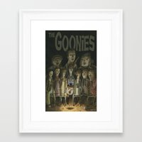 goonies Framed Art Prints featuring The Goonies by Patt Kelley