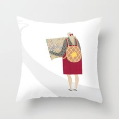 Off on a Waffley Big Adventure! Throw Pillow