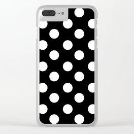 Polka Dot (White & Black Pattern) Clear iPhone Case