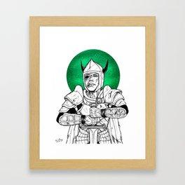 Clovis, the Undead Warrior Queen of Green Falls Tomb Framed Art Print