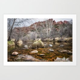 Oak Creek and Cathedral Rock from Red Rock Crossing Art Print