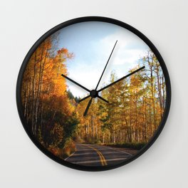Indy In Autumn Wall Clock