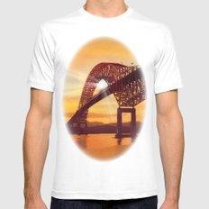 Pan-American Bridge White Mens Fitted Tee MEDIUM